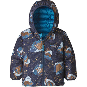 Patagonia Reversible Down Sweater Hoody Baby Kids, stories by starlight/neo navy